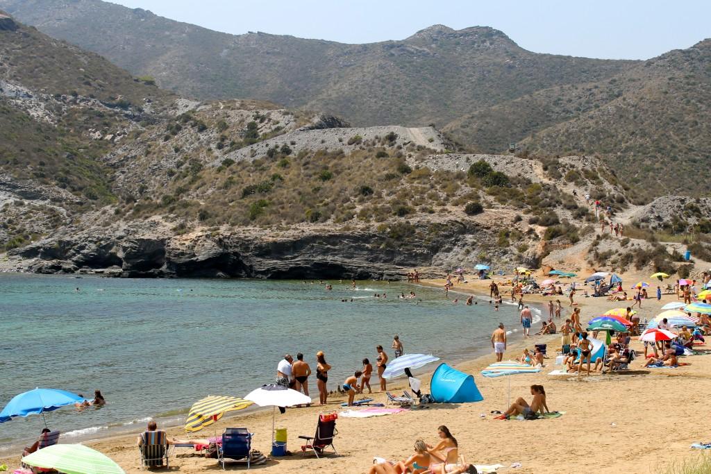 Cala Reona en la costa de Murcia
