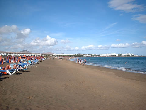 playa de los Pocillos en Lanzarote