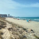 Playa de las Amolaredas en Cartagena