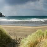 Playa de Barayo en la costa de Asturias