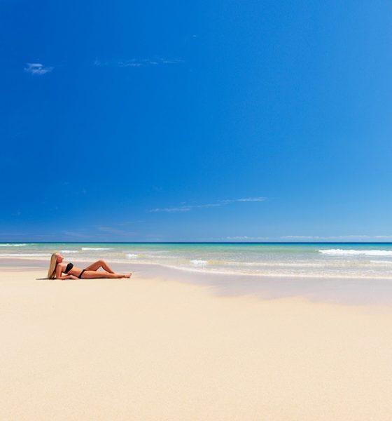 playa Costa Calma en Fuerteventura