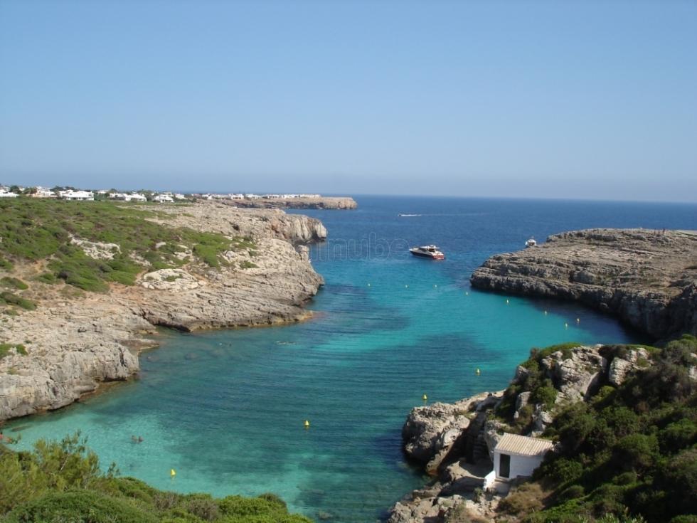 Cala Binidali en Menorca