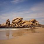 Playa do Vilar en Ribeira costa de A Coruña