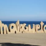 Playa de la Malagueta en la costa del sol