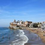 Playa de Sant Sebastià en Cataluña