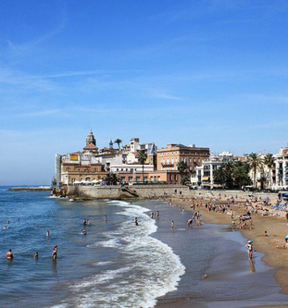La Playa de Sant Sebastià en Sitges
