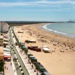Playa de Valdelagrana en Cádiz