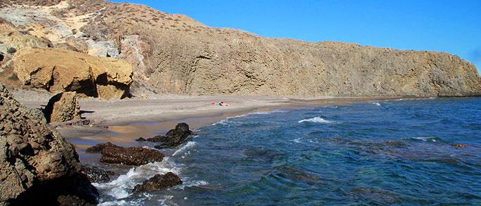 Playa el Barronal en Almeria